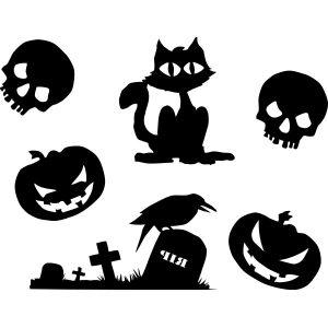 Raamstickers Halloween